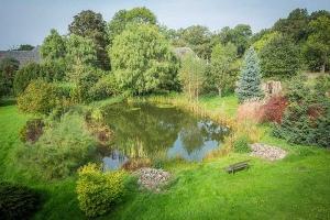 Landhaus Elbeflair Garten mit Teich